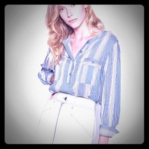 Joie striped long sleeve button up shirt.